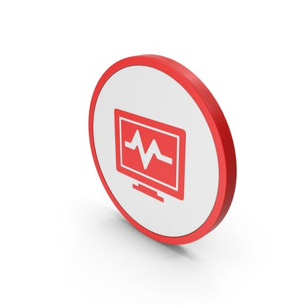 Icon Health Monitor Red