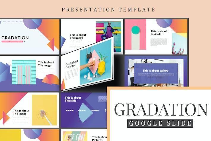 Cover Image For Gradation Google Slides Presentation