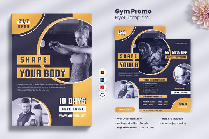 Gym/Fitness Promo Flyer