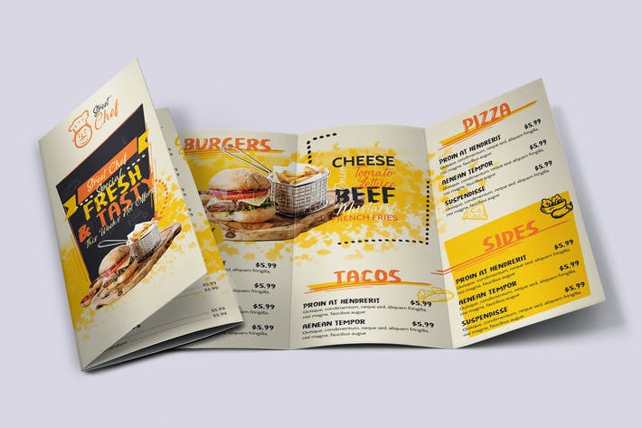Thumbnail for Fast Food Tri-Fold Brochure