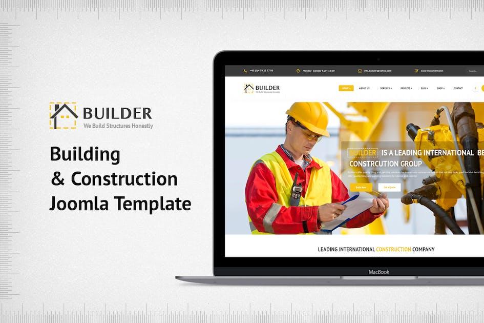 Download Builder - Building & Construction Joomla Template by JoomlaBuff