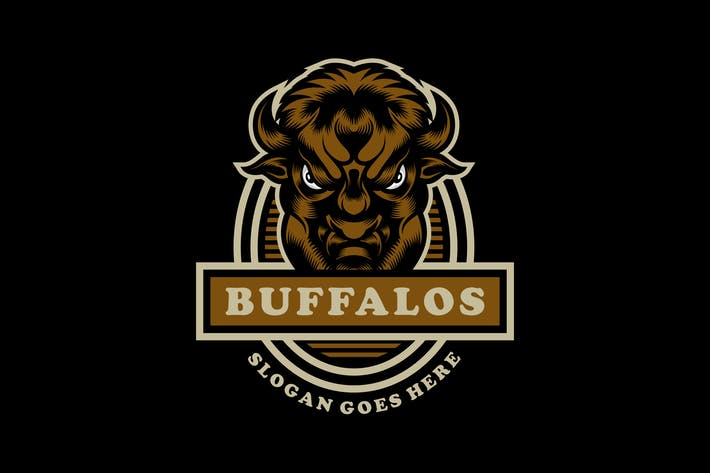 Thumbnail for Buffalo Emblem Vintage Logo Template