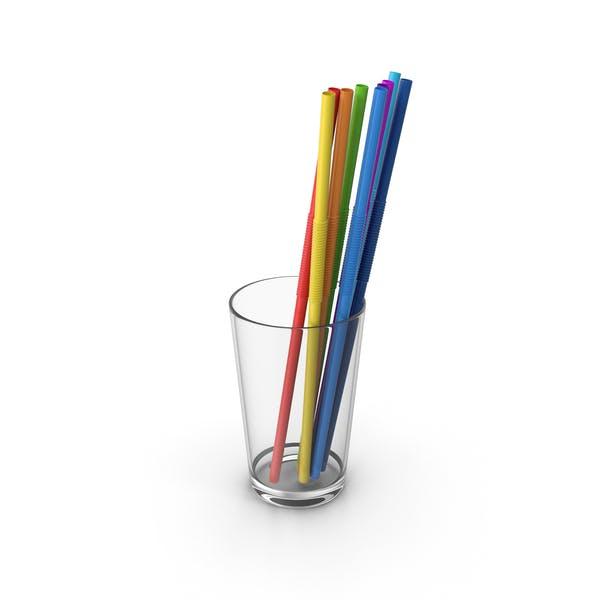 Glass With Straws