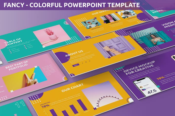 Thumbnail for Fancy - Colorful Powerpoint Template