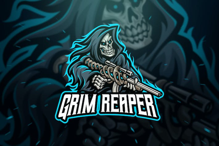 Thumbnail for Grim Reaper Sniper Sport and Esport Logo Template