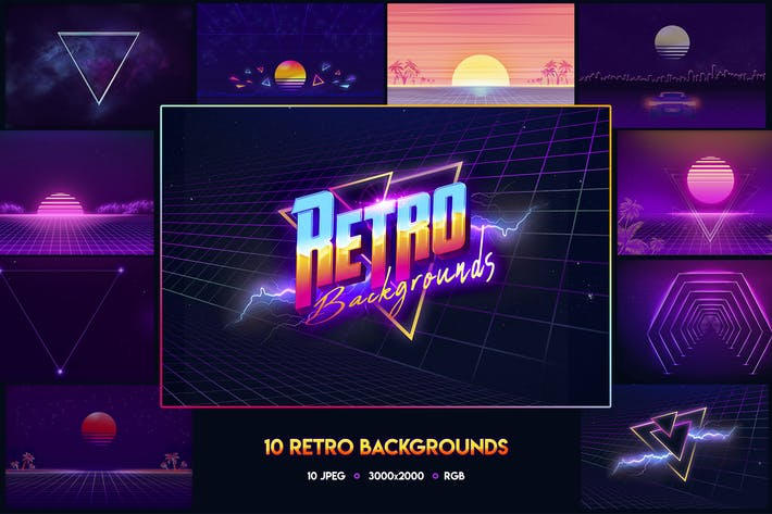Thumbnail for 80s Retro Backgrounds vol.2