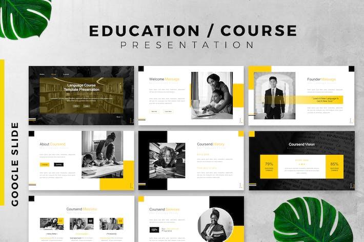 Education / Course Google slide template