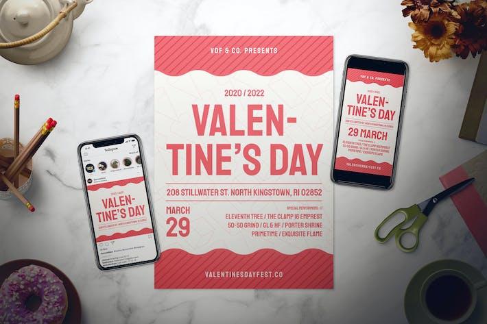 Thumbnail for Valentine's Day Flyer Set