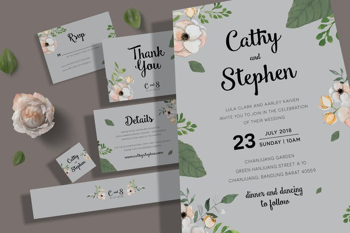 Thumbnail for Wedding Invitation Set