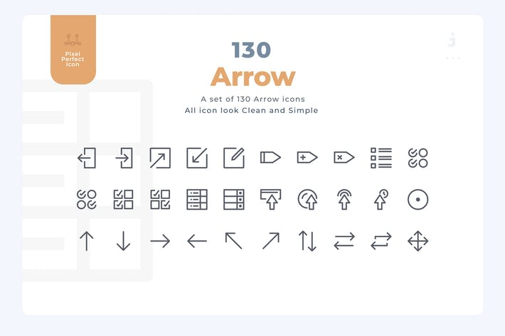 Cover Image For 130 Arrow Icons - Material Icon