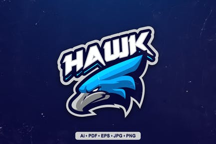 Hawk Mascot Logo template