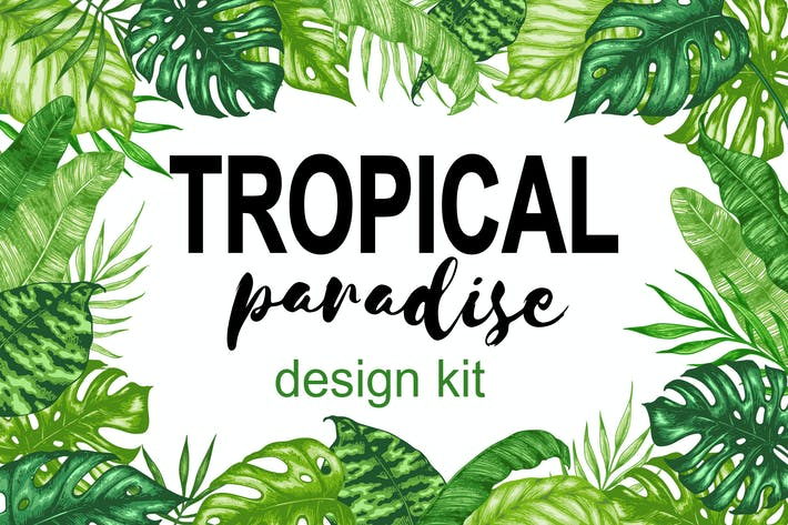 Cover Image For Tropical Paradise Design Kit