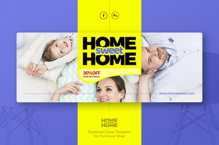 Thumbnail for HomeSweetHome - Furniture Facebook Cover Template