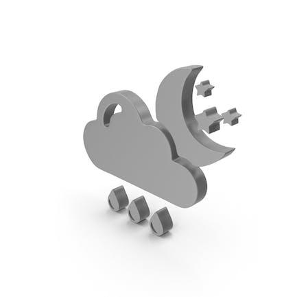 Regennight-Wetter-Symbol
