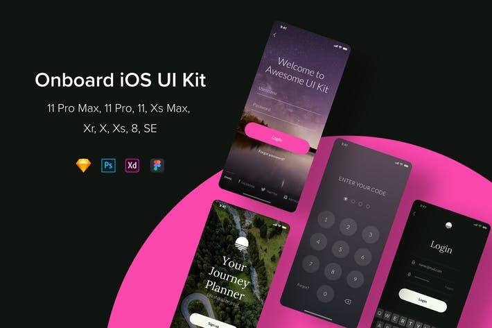 Thumbnail for Onboard iOS UI Kit