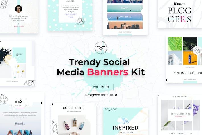 Thumbnail for Social Media Banners Pack IX
