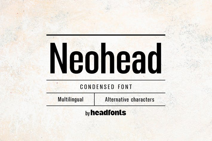 Thumbnail for Fuente Neohead condensada sans Con serifa