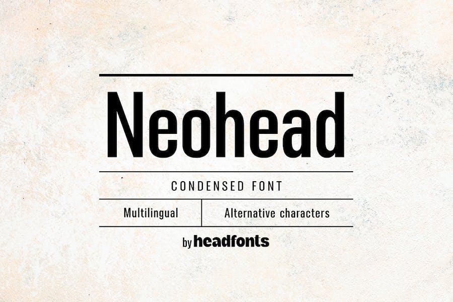 Neohead condensed sans serif font