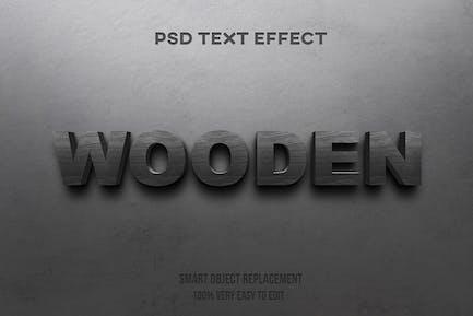 wooden text effect