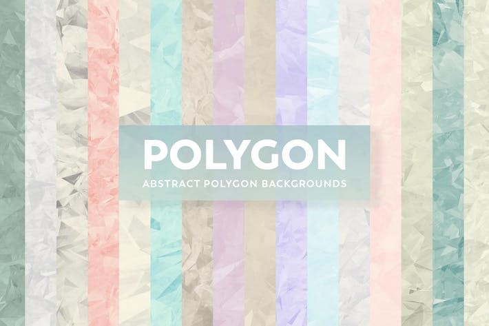 Thumbnail for Abstract Polygon Backgrounds - Collection Colors