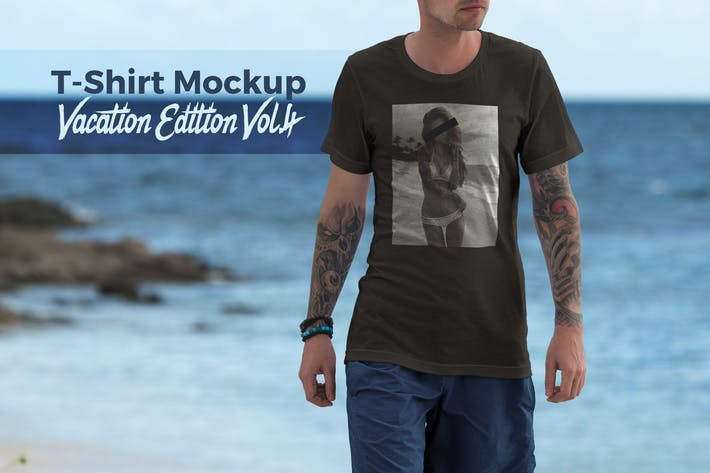 Cover Image For T-Shirt Mockup Vacation Edition Vol. 4