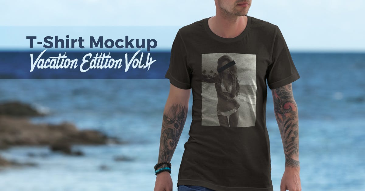 T-Shirt Mockup Vacation Edition Vol. 4 by Genetic96