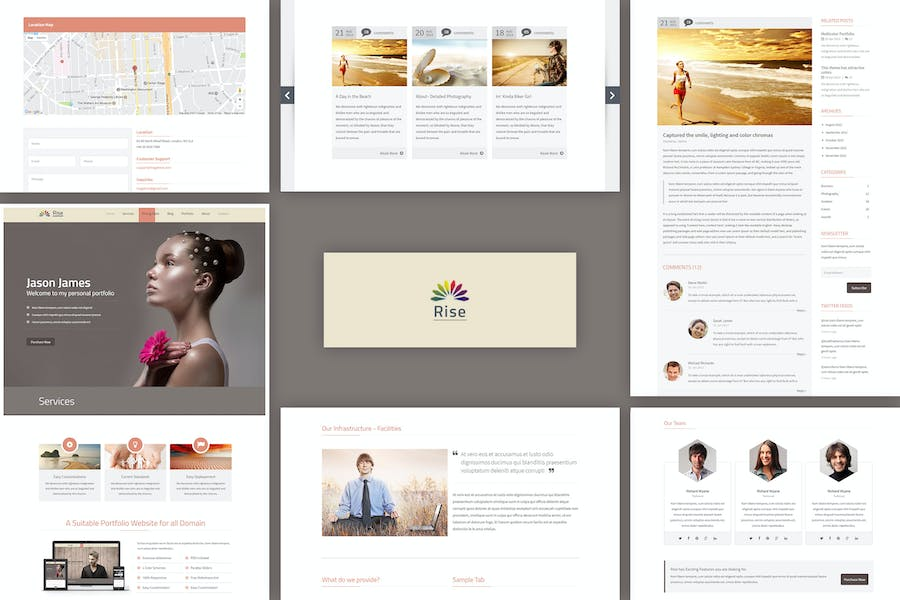 Rise | Responsive OnePage Parallax Template