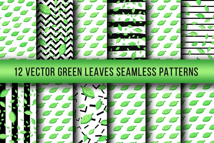 Thumbnail for Green Leaves Seamless Patterns