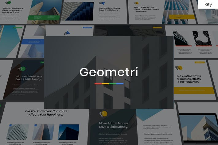 Thumbnail for Geometry - Multipurpose Keynote Template