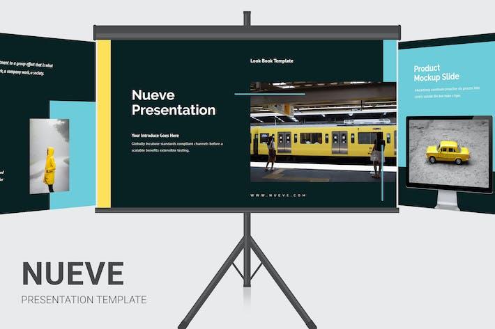 Thumbnail for Nueve - Желтый тон деловой Keynote