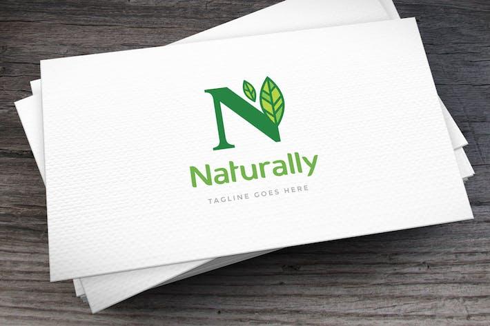 Naturally Letter N Logovorlage
