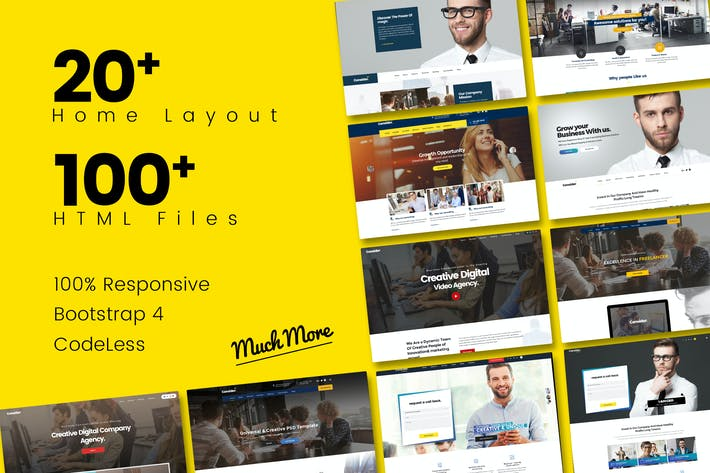 Thumbnail for Consider - Multi-Purpose Responsive HTML5 Template