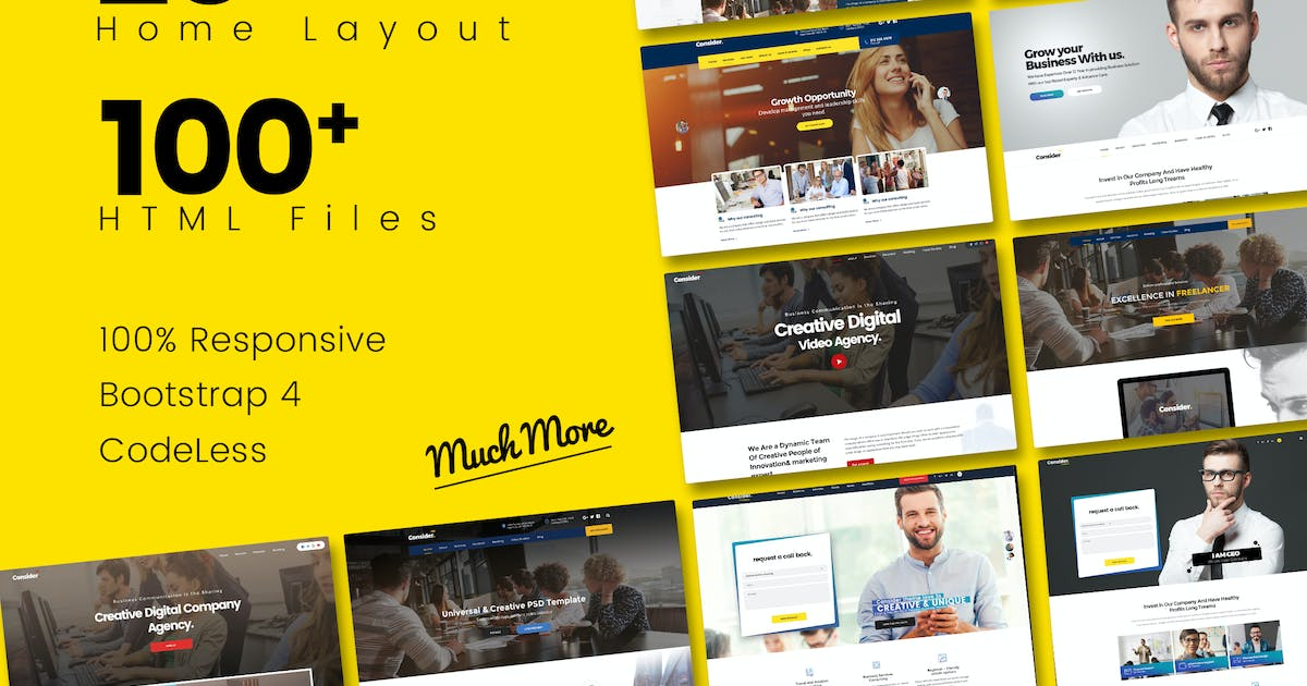 Download Consider - Multi-Purpose Responsive HTML5 Template by UserThemes