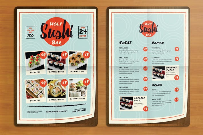 Thumbnail for Sushi Bar Flyer Menus