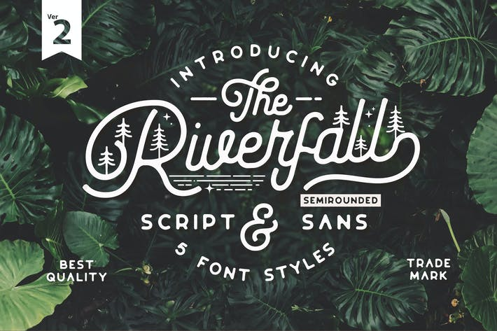 Thumbnail for Riverfall Semi rounded Script and Sans Ver.2