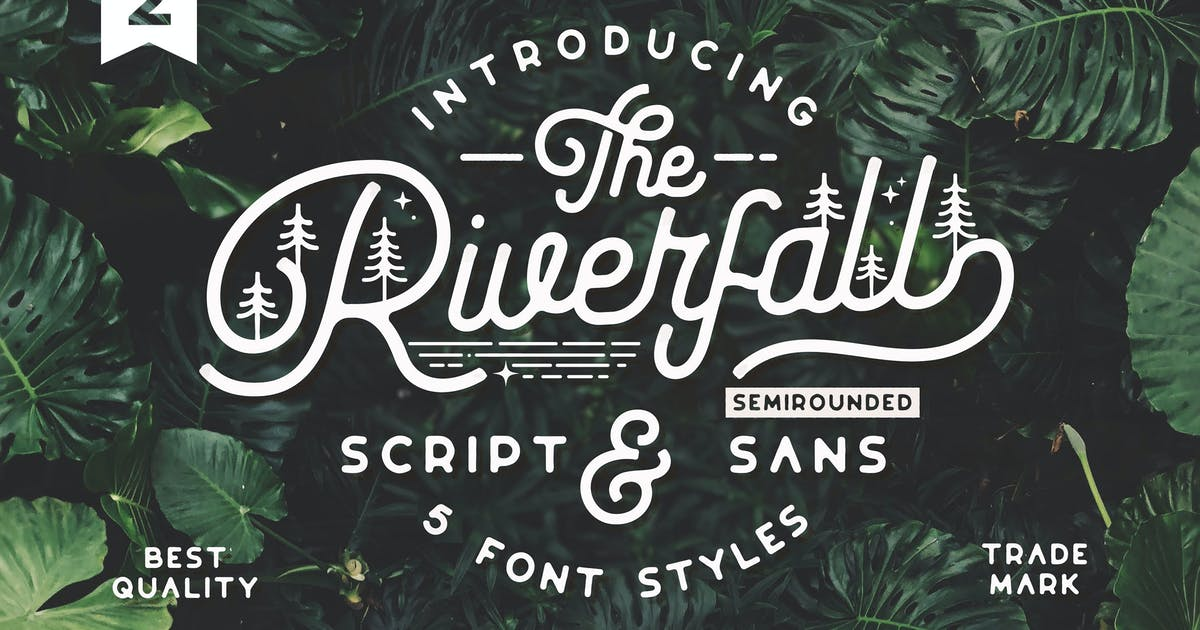 Download Riverfall Semi rounded Script and Sans Ver.2 by NEWFLIX