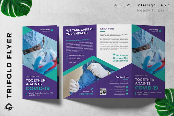 Pandemic COVID-19  Trifold Brochure Flyer