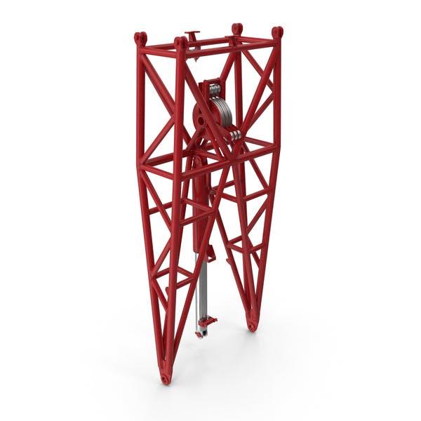Кран WA Рамка 1 Поворотная секция Красный