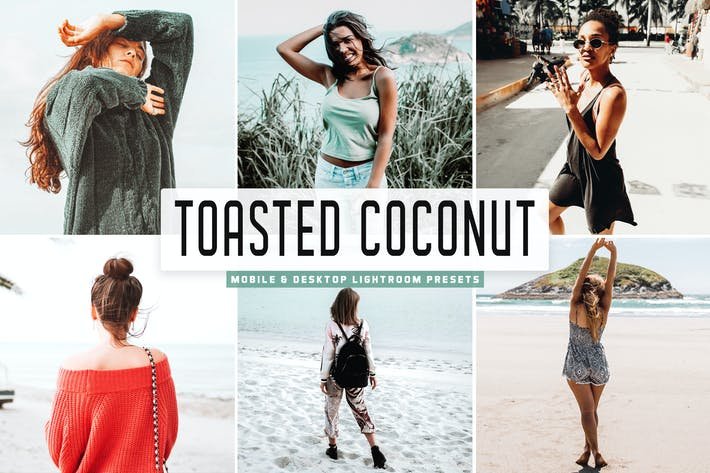 Thumbnail for Toasted Coconut Mobile & Desktop Lightroom Presets