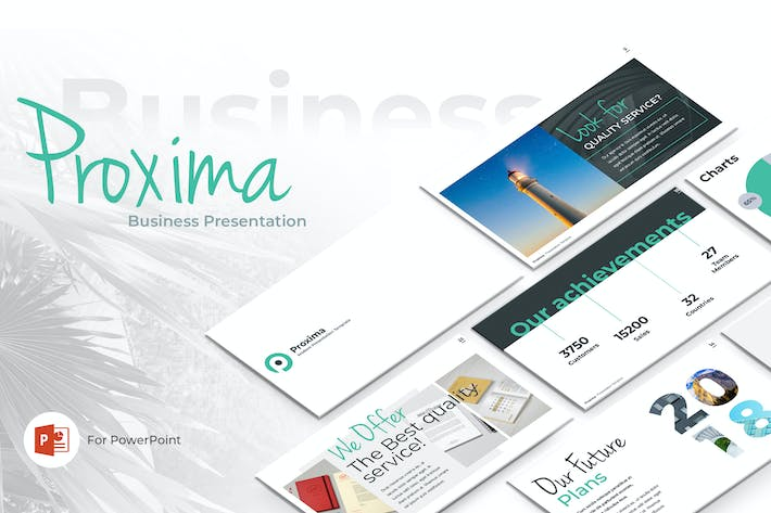 Thumbnail for Proxima Business PowerPoint Template