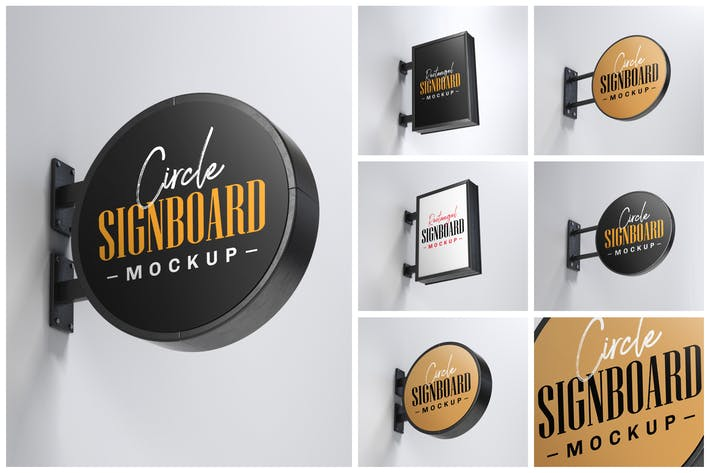 Thumbnail for Street Signboard Mockup Set