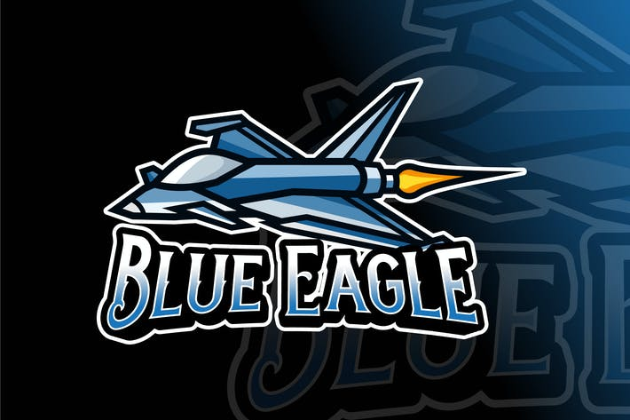 Cover Image For Blue Eagle Logo Template