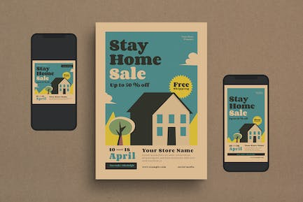 Stay Home Sale Flyer