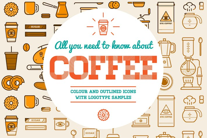 Thumbnail for Coffee Icons and Logo Set 2