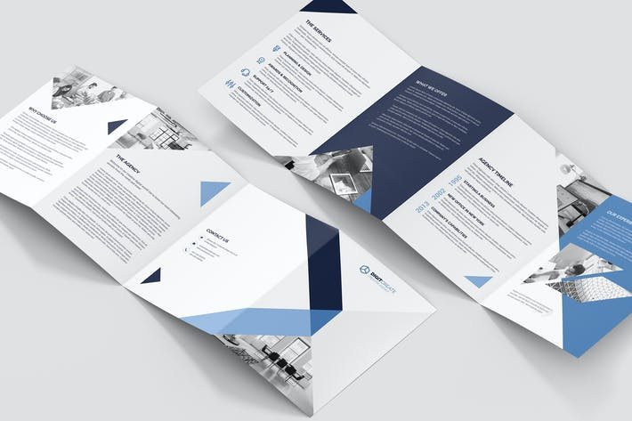 Thumbnail for Brochure – Digital Agency 4-Fold A5