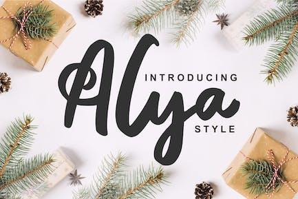 Alya | Brush Style Font