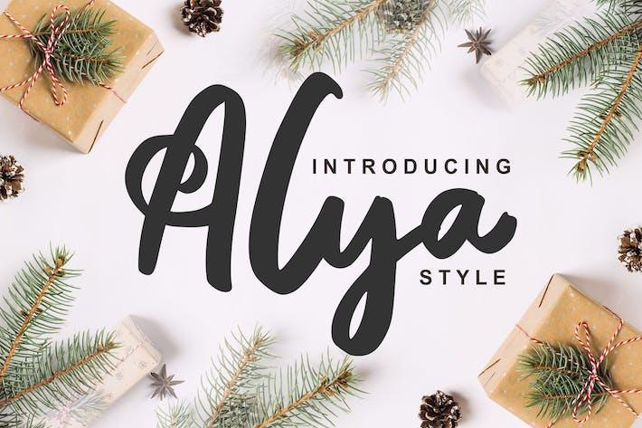 Thumbnail for Alya | Fuente estilo pincel