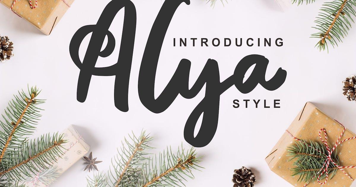 Download Alya   Brush Style Font by Vunira
