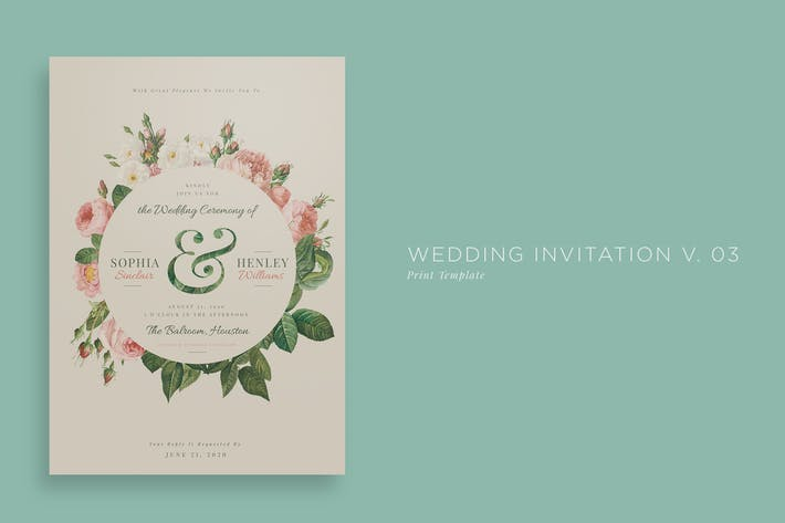Thumbnail for Wedding Invitation V03