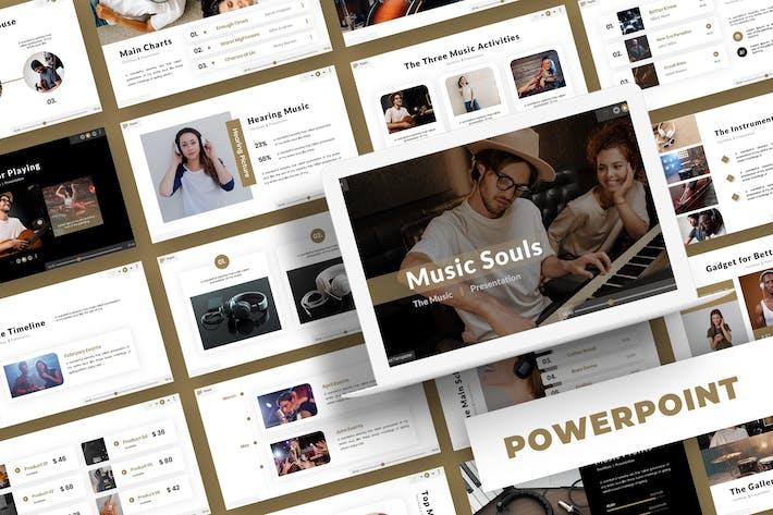 Thumbnail for Музыкальные души - Powerpoint Шаблон